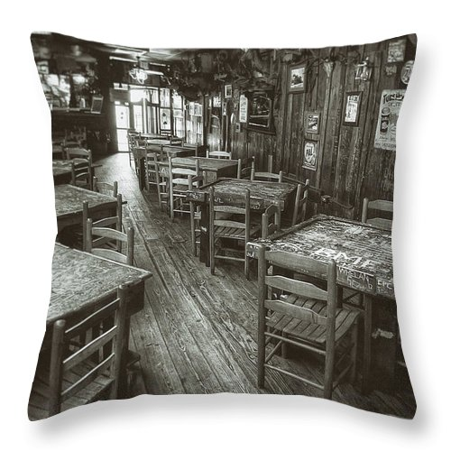 Dixie Chicken Throw Pillow featuring the photograph Dixie Chicken Interior by Scott Norris