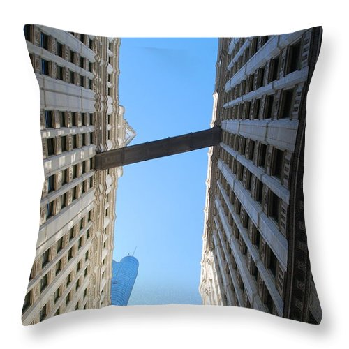 Building Throw Pillow featuring the photograph Dizzy by Richard Bryce and Family