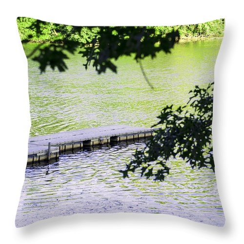 Dock Throw Pillow featuring the photograph Dock by Pablo Rosales