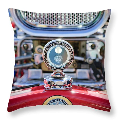Dodge Brothers Throw Pillow featuring the photograph Dodge Brothers - Boyce Motometer by Jill Reger