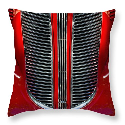 Dodge Brothers Throw Pillow featuring the photograph Dodge Brothers Grille by Jill Reger