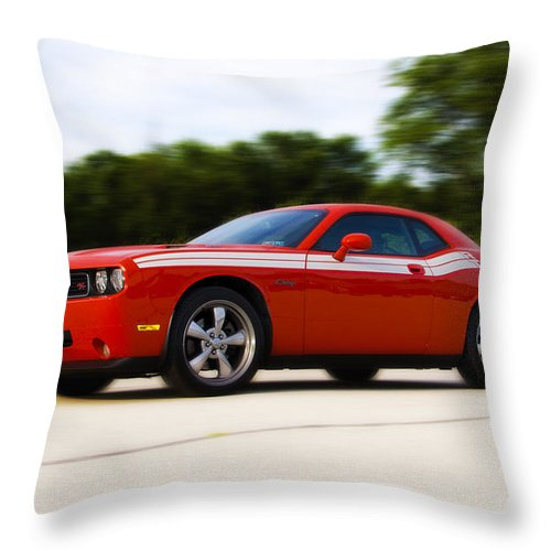 Dodge Throw Pillow featuring the photograph Dodge Challenger by Bill Cannon