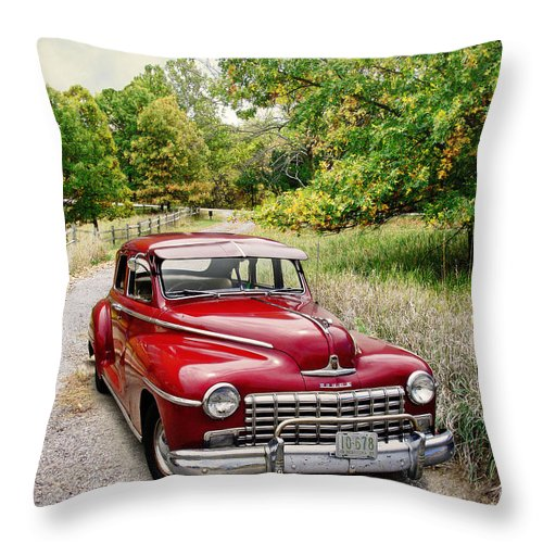 Automobiles Throw Pillow featuring the photograph Dodge Country by John Anderson