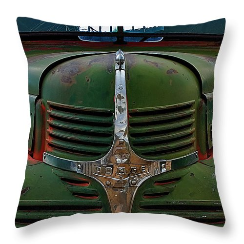 Truck Throw Pillow featuring the photograph Dodge by Murray Bloom
