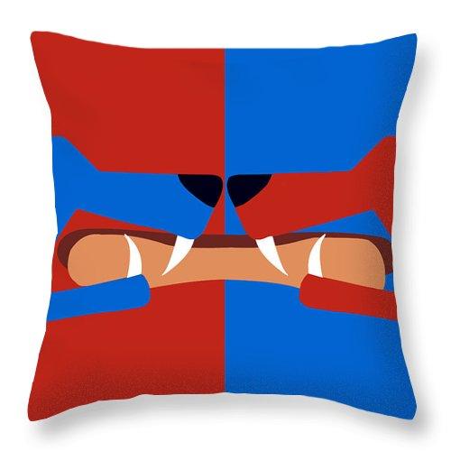 Dog Throw Pillow featuring the digital art Dog Eat Dog by Joseph Tamassy