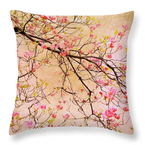 Dogwood Throw Pillow featuring the photograph Dogwood Canvas by Jessica Jenney