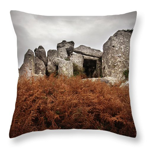 Portugal Throw Pillow featuring the photograph Dolmen by Carlos Caetano