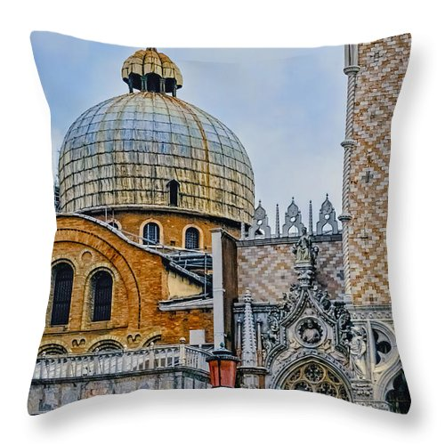 Architectural Throw Pillow featuring the photograph Dome by Maria Coulson