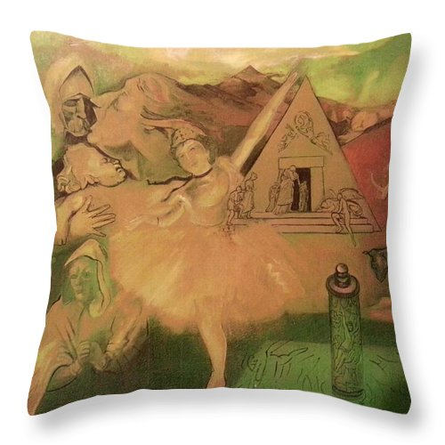 Throw Pillow featuring the painting Don Quixote by Jude Darrien