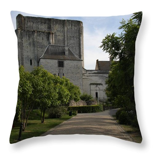 Donjon Throw Pillow featuring the photograph Donjon Loches - France by Christiane Schulze Art And Photography