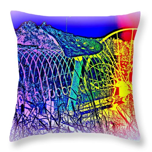 Agriculture Throw Pillow featuring the photograph Dont Dream Of The Old Times, They Will Never Return by Hilde Widerberg