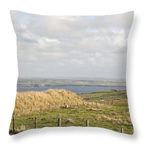 Ireland Digital Photography Throw Pillow featuring the digital art Doolin Bay by Danielle Summa