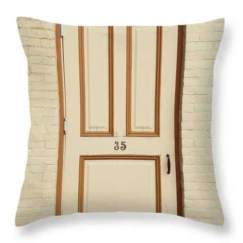 Minimalist Throw Pillow featuring the photograph Door 35 by Bethany Helzer