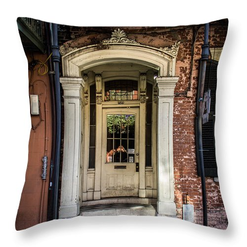 New Orleans Throw Pillow featuring the photograph Door 934 by Perry Webster