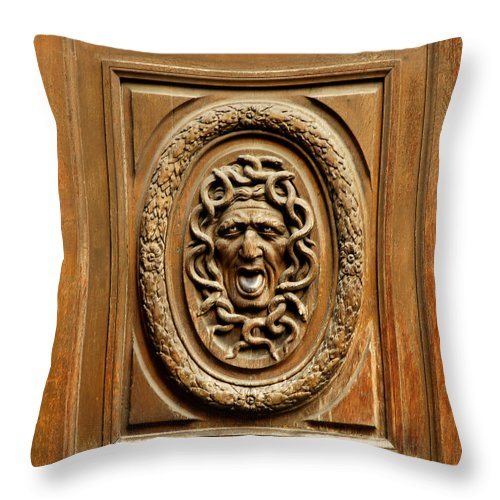 Paris Throw Pillow featuring the photograph Door Detail by Mick Burkey