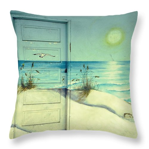Architecture Throw Pillow featuring the photograph Door Of Perception by Skip Hunt