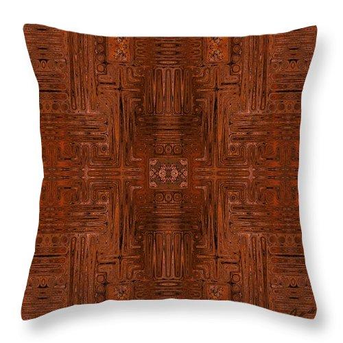 Door Throw Pillow featuring the digital art Doors Of Zanzibar Cayenne by Judi Suni Hall