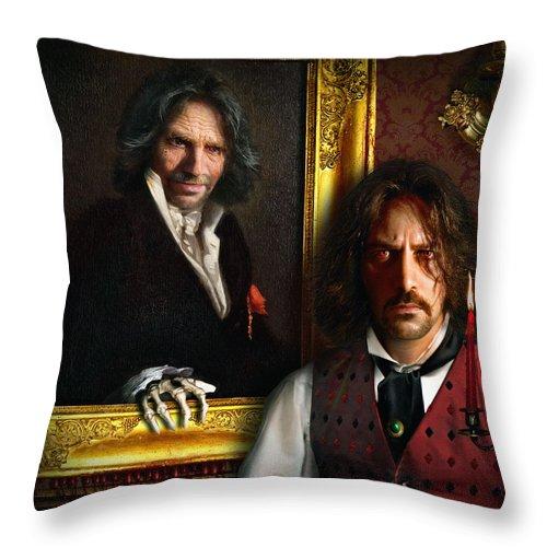 Dorian Gray Throw Pillow featuring the digital art Dorian by Alessandro Della Pietra