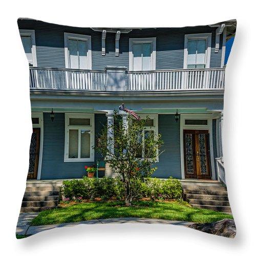 Home Throw Pillow featuring the photograph Double Barreled Shotgun by Steve Harrington