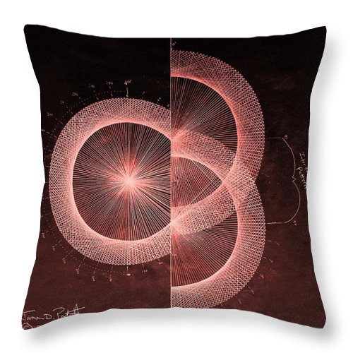 Jason Throw Pillow featuring the drawing Double Slit Test by Jason Padgett