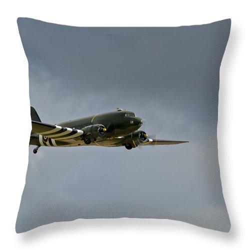 Dakota Throw Pillow featuring the photograph Douglas C-47 Dakota by Gary Eason