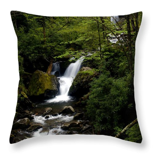 Water Throw Pillow featuring the photograph Down From The Hills by Paul W Faust - Impressions of Light