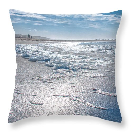 Sky Throw Pillow featuring the photograph Down To The Beach by Alex Hiemstra