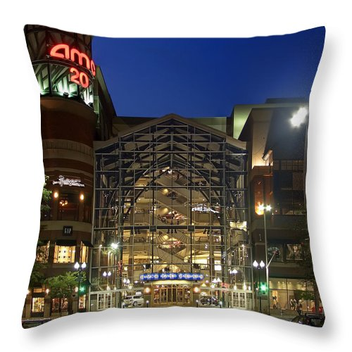 riverpark Square Throw Pillow featuring the photograph Downtown Spokane Washington by Daniel Hagerman