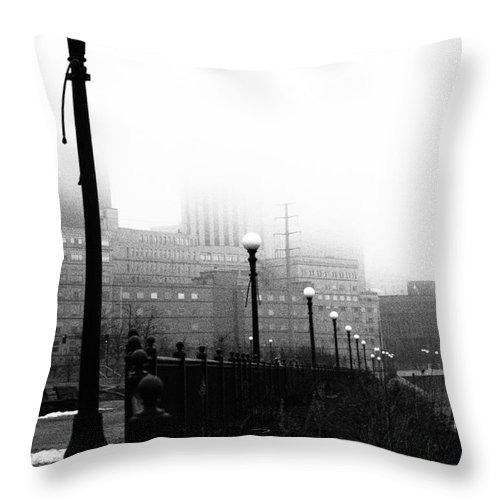 Downtown Throw Pillow featuring the photograph Downtown St.paul Minnesota by Amanda Hilden