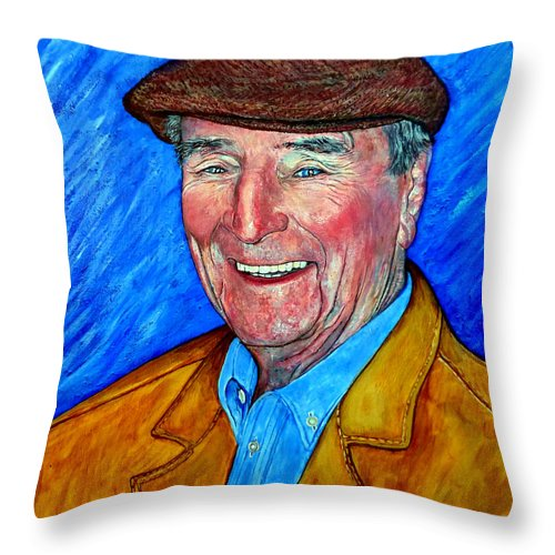 Dr Jim Roderick Throw Pillow featuring the painting Dr James E Roderick by Tom Roderick