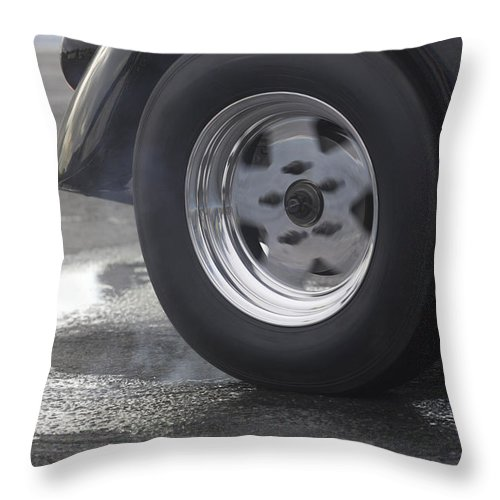 1/4 Mile Throw Pillow featuring the photograph Drag Racing 9 by Stefan Bau