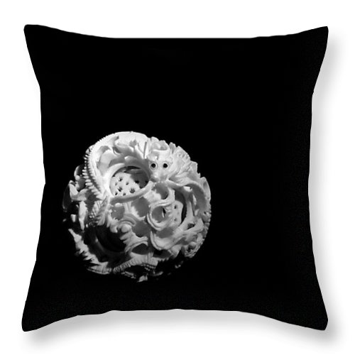 Japanese Puzzle Ball Throw Pillow featuring the photograph Dragon Puzzlement by Susan Maxwell Schmidt