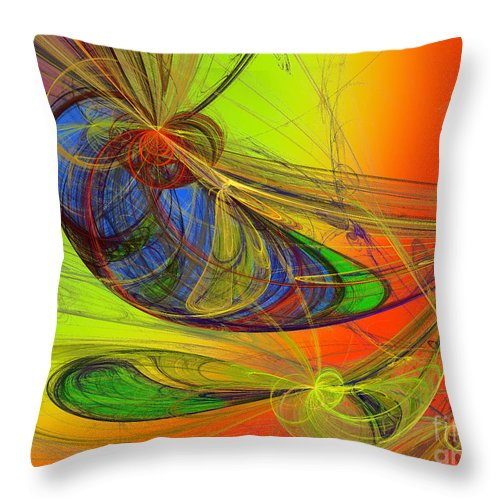 Andee Design Children's Rooms Art Throw Pillow featuring the digital art Dragonfly Fancy by Andee Design