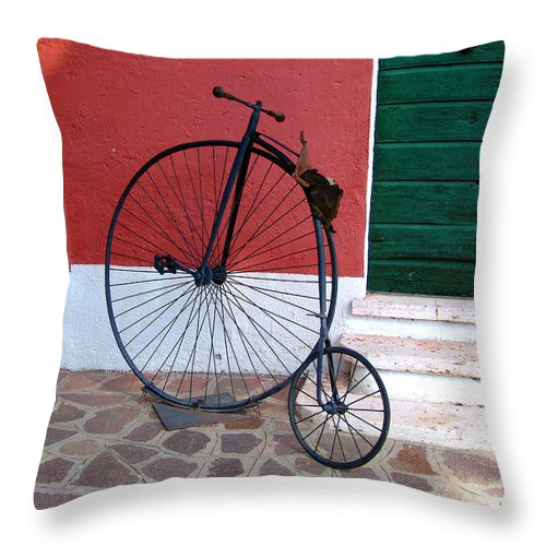 Bicycle Throw Pillow featuring the photograph Draisina by Alessandro Della Pietra