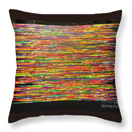 Drama Throw Pillow featuring the painting Drama by Jacqueline Athmann