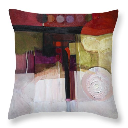 Paper Throw Pillow featuring the painting Drama Too by Marlene Burns
