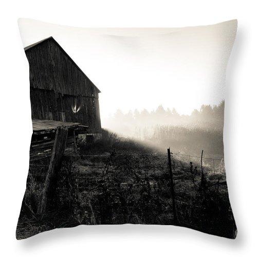 Throw Pillow featuring the photograph Dramatic Farm Sunrise by Cheryl Baxter