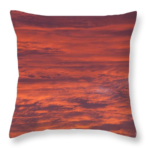 Sunset Throw Pillow featuring the photograph Dramatic Red Sky by Shaun Wilkinson