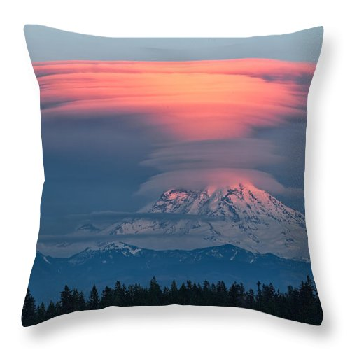 Landscape Throw Pillow featuring the photograph Dramatic Sunset by Don Hall