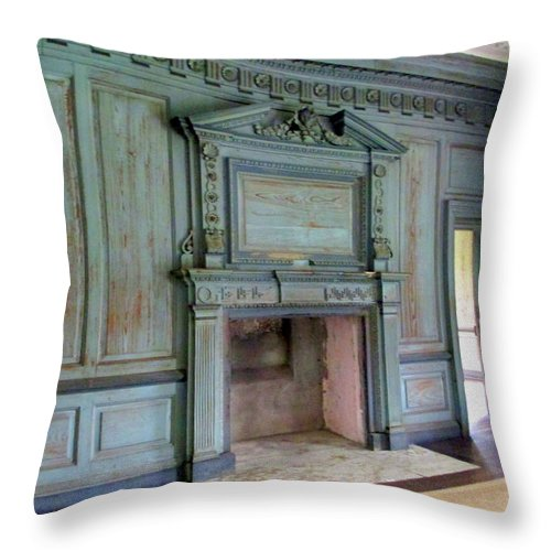 Drayton Throw Pillow featuring the photograph Drayton Hall Interior 1 by Randall Weidner