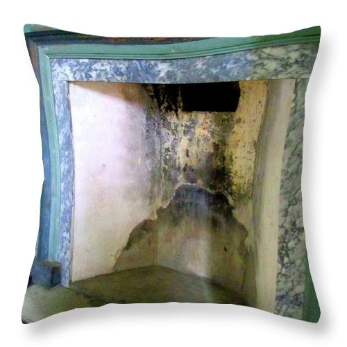 Drayton Throw Pillow featuring the photograph Drayton Hearth 3 by Randall Weidner