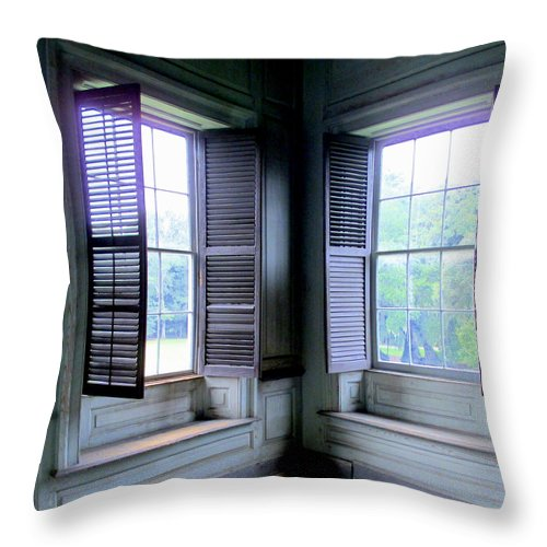 Drayton Throw Pillow featuring the photograph Drayton Interior Window 2 by Randall Weidner
