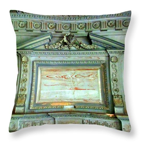 Drayton Throw Pillow featuring the photograph Drayton Mantel 1 by Randall Weidner