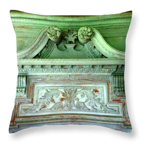 Drayton Throw Pillow featuring the photograph Drayton Mantel 2 by Randall Weidner
