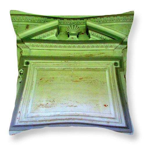 Drayton Throw Pillow featuring the photograph Drayton Mantel 3 by Randall Weidner