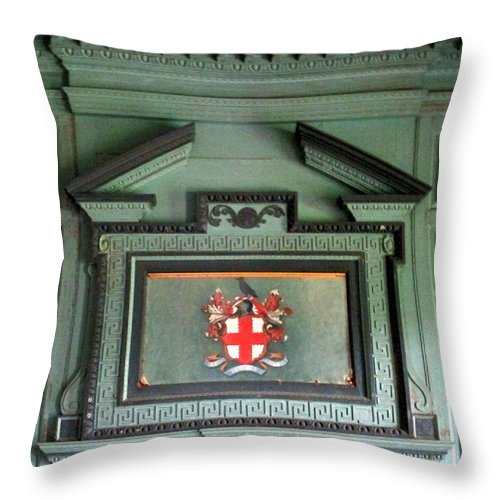 Drayton Throw Pillow featuring the photograph Drayton Mantel 4 by Randall Weidner