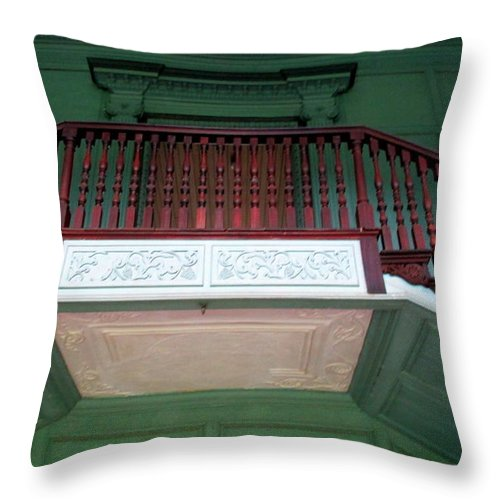 Drayton Throw Pillow featuring the photograph Drayton Staircase 3 by Randall Weidner