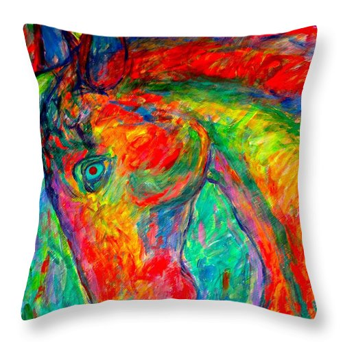 Horse Throw Pillow featuring the painting Dream Horse by Kendall Kessler