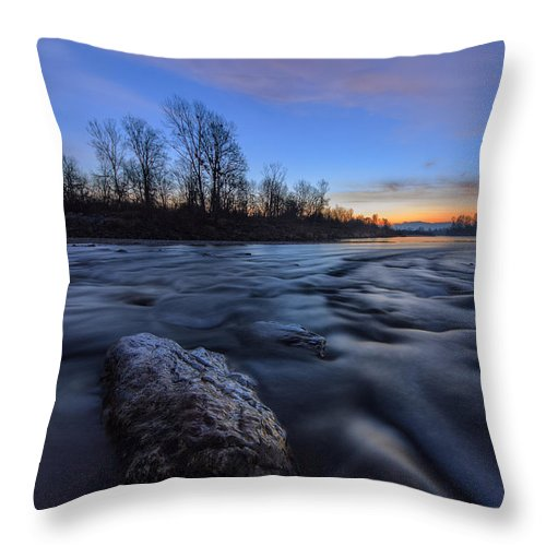 Landscape Throw Pillow featuring the photograph Dream On by Davorin Mance