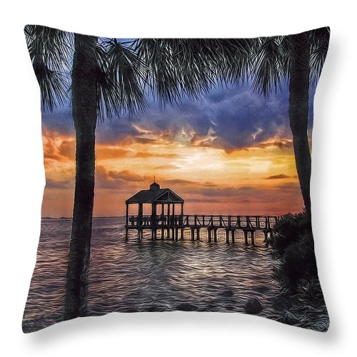 Pier Throw Pillow featuring the photograph Dream Pier by Hanny Heim
